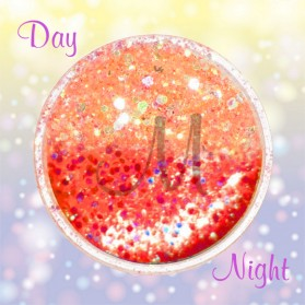 HEXAGON GLITTER DAY & NIGHT-ORANGE