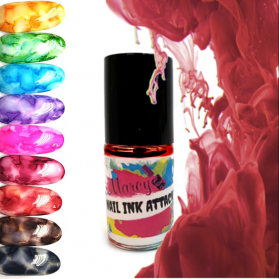 NAIL INK ATTACK-ROSE RED