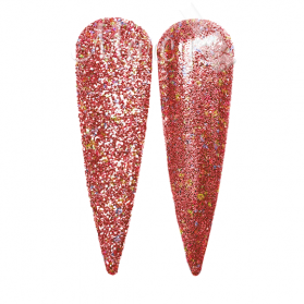 GLITTER HOLO ROSE RED