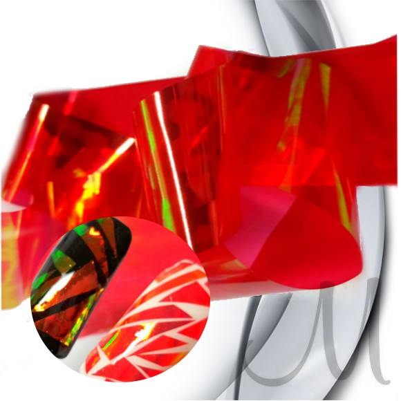 GLASS EFECT FOIL-RED