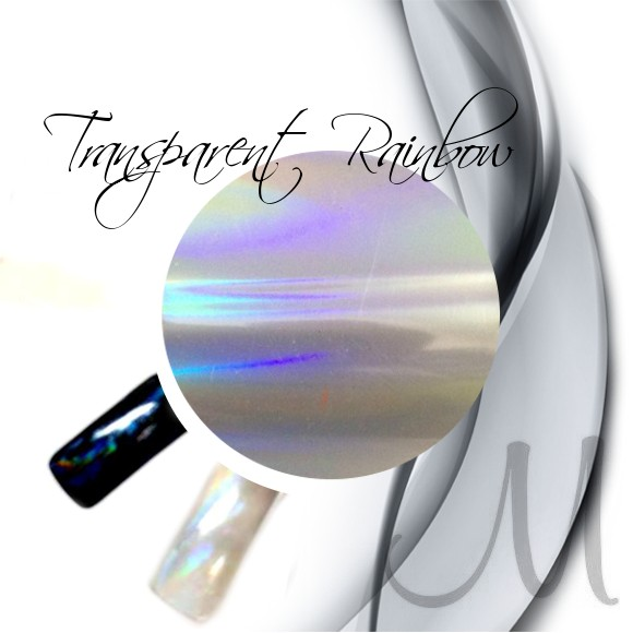TRANSFER FOIL-TRANSPARENT RAINBOW